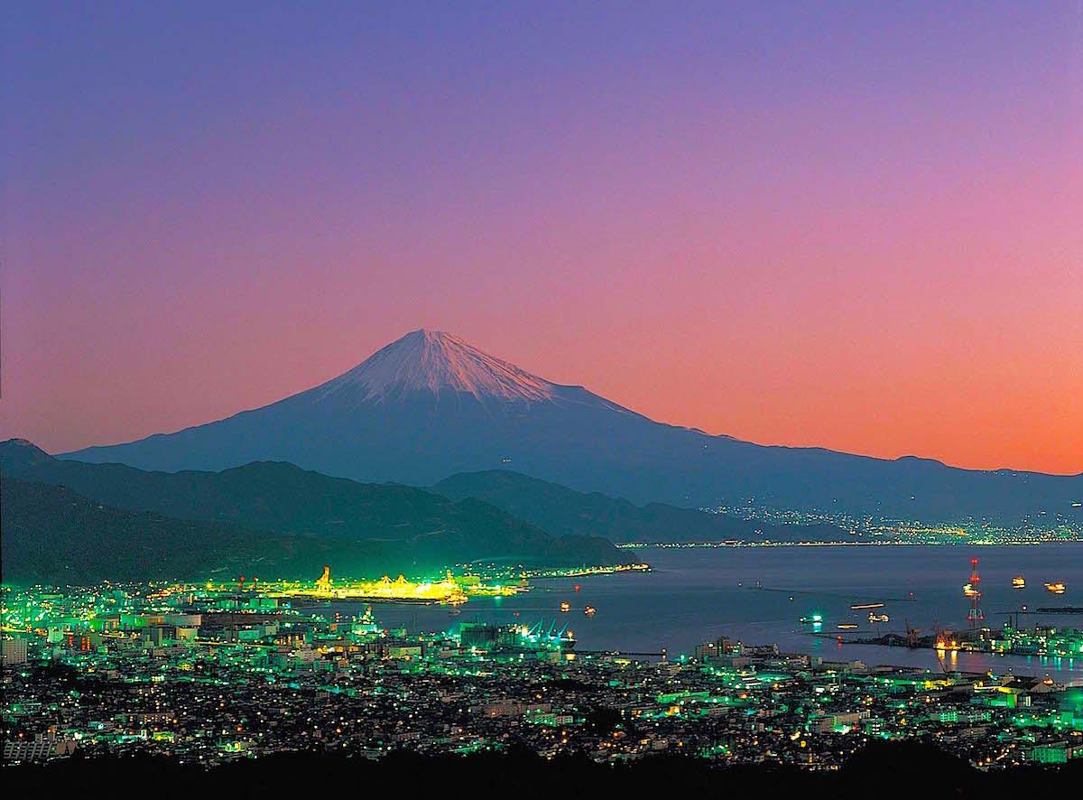 日本平夕景