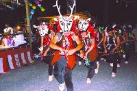 徳山の盆踊「鹿ん舞」・「ヒーヤイ」(川根本町)