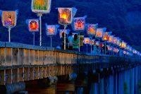 島田市で『蓬莱橋ぼんぼり祭り』
